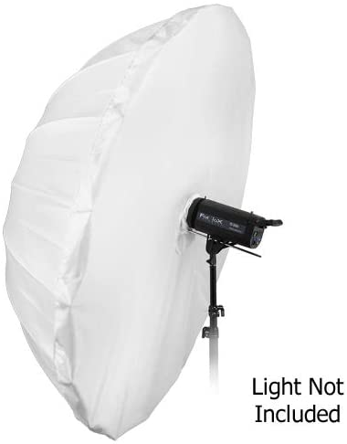 Fotodiox Pro 72in Shoot-Through Neutral White Diffusion Parabolic 16-Rib Umbrella with Neutral White Diffusion Cover
