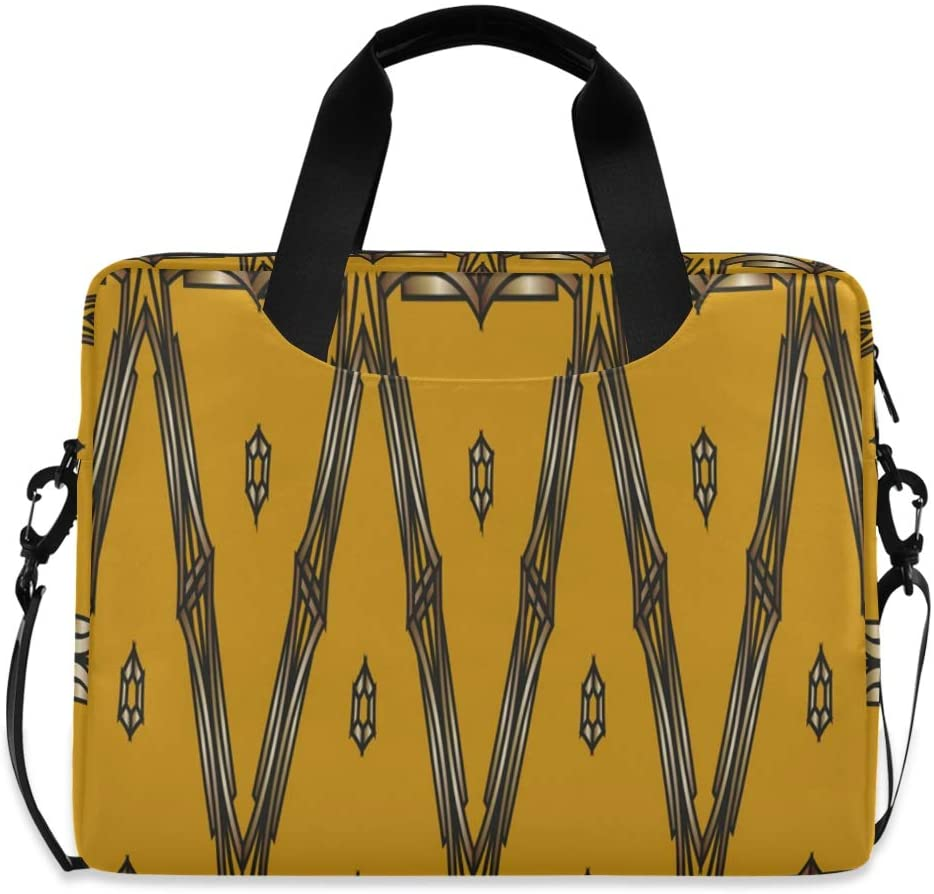 Laptop Bag, Classic Golden Laptop Briefcase Bag, 16 Inch Slim Laptop Backpack Laptop Case