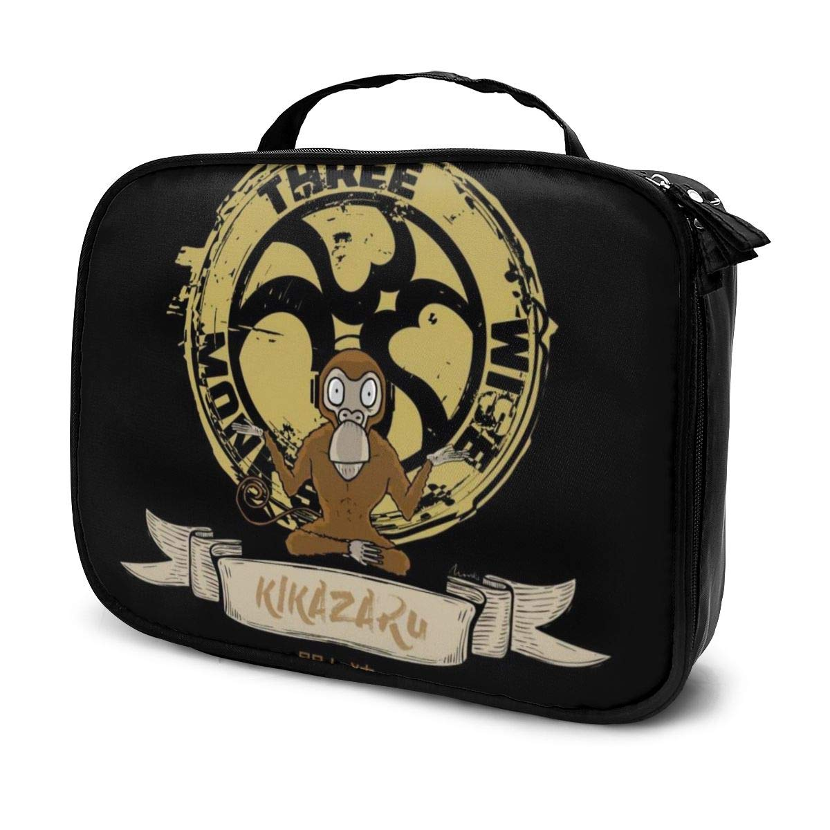 Multi-Functional Bag With Compartments Three Wise Monkeys Kikazaru Professional Cosmetic Pouch Travel Kit Makeup Boxes Makeup Bag