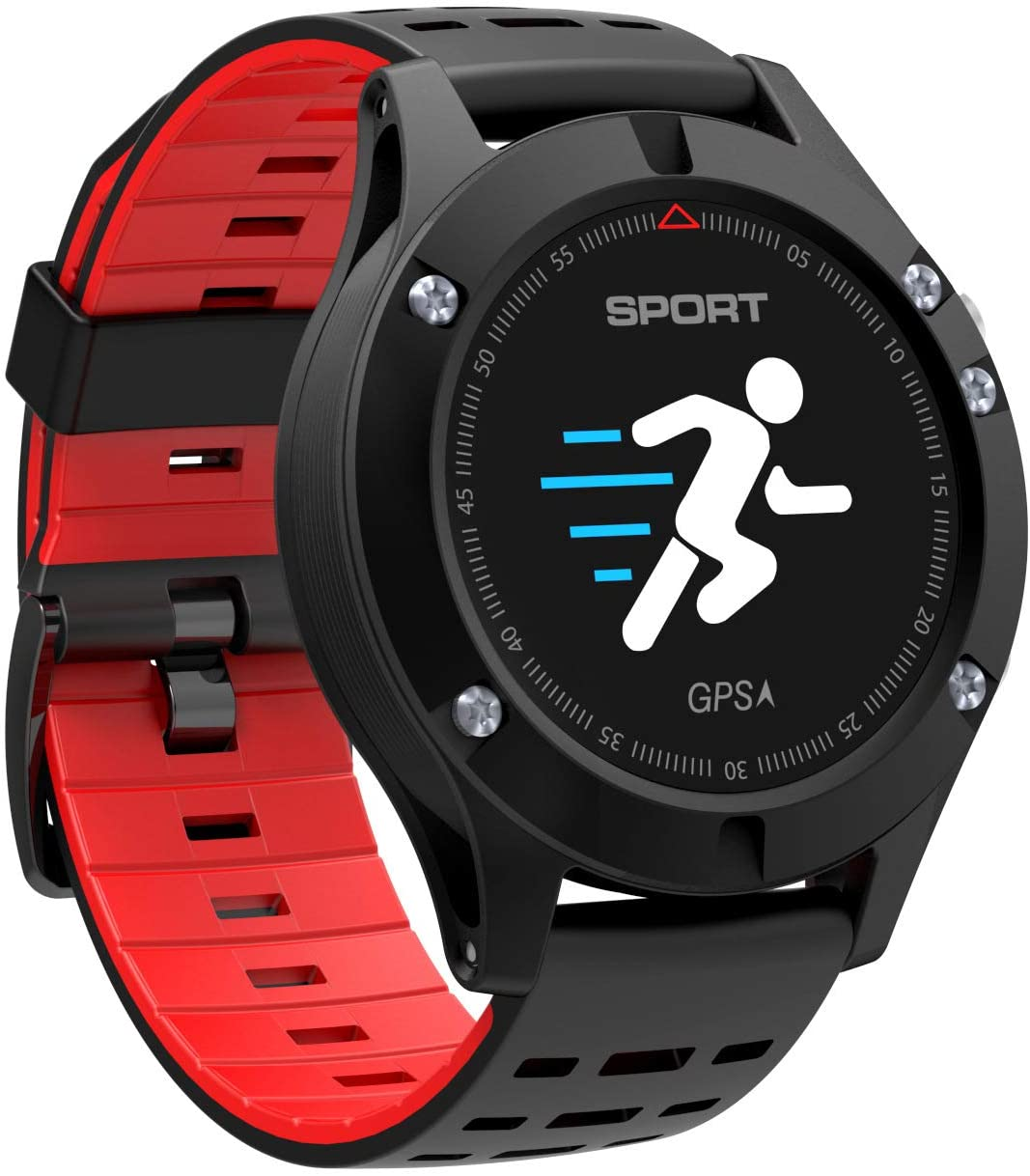 ELQ Smart Sports Watch/Heart Rate Monitoring/Real-Time Measurement of Temperature Height/Sports Bracelet Pedometer/Smart Reminder/GPS Positioning