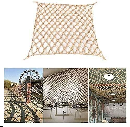 Stair Handwoven Shatterproof Net Protection Net, Kindergarten Balcony Fence Net Decorative Net 8mm / 10cm 0623 (Size : 2x10m)