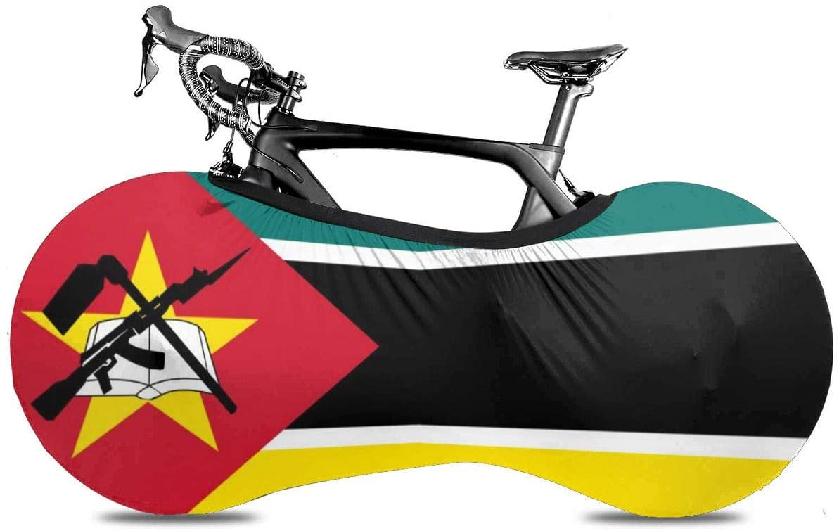 Lumos3DPrint Mozambique Flag Bike Cover Washable Elastic Dirt-Free Bike Storage Wheel Cover Tire Package Fit All Bicycles