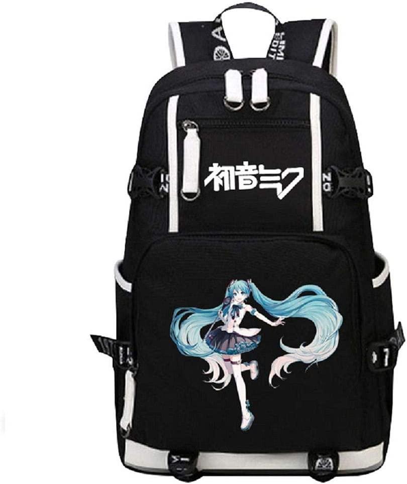 Siawasey Anime Hatsune Miku Vocaloid Cosplay Shoulder Bag Backpack Daypack Bookbag Laptop School Bag