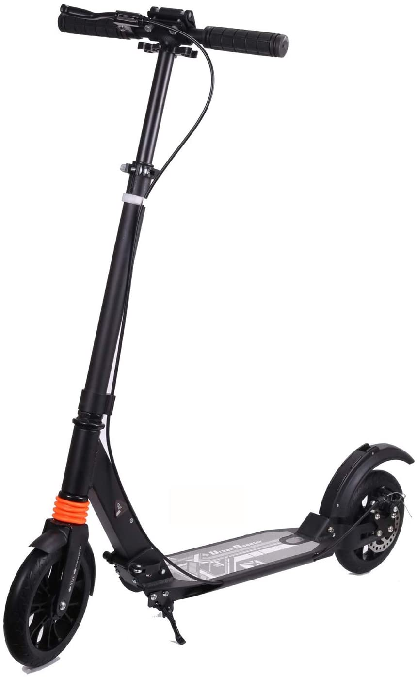 YYIN Adjustable Height Kick Scooters Folding Mini Two-Wheeled Scooter Disc Brake System Widening The Pedal Up To220lbs Height Adjustable for Adult Kids A Kick Scooter