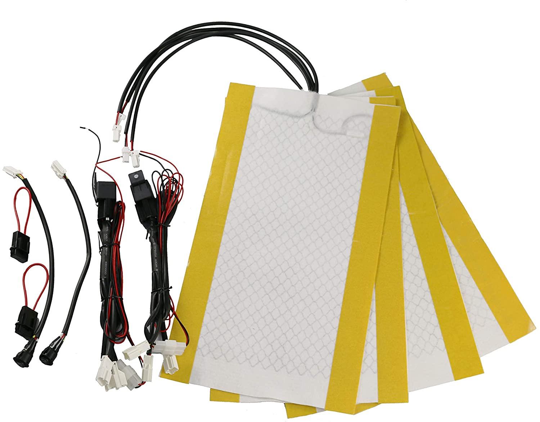 KBD Premium Car Seat Heater Kit High/Low Switch Settings Faster Warm Up (2 seat)