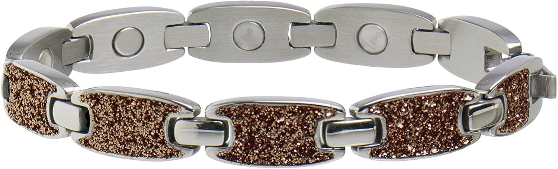 Sabona 28375 Caribbean Sand Magnetic Bracelet in Silver, 0.1 Ounce