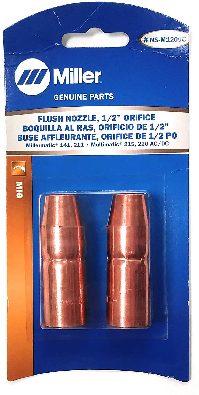 Miller Flush Nozzle, 1/2 Orifice, part no. NS-M1200C (2 per pack).
