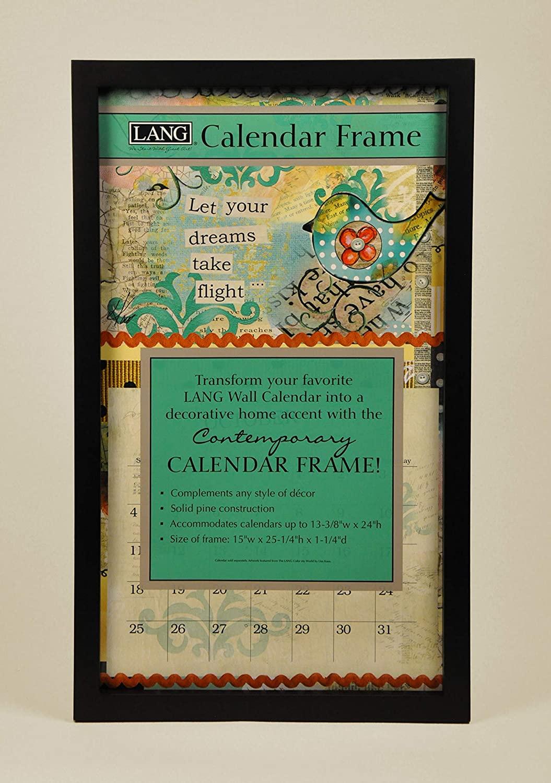 Lang Perfect Timing - Contemporary Black Calendar Frame,