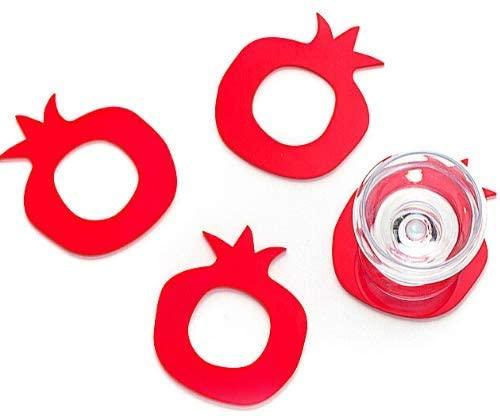 Pomegranate napkin ring/coaster