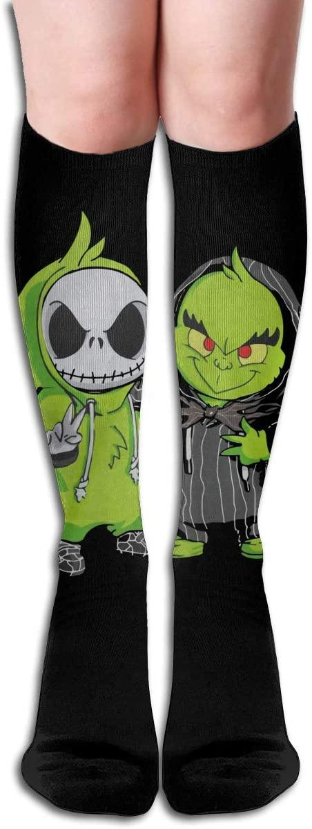 Baby Grinch and Jack Skellington Women's & Men Socks Knee High Long Socks