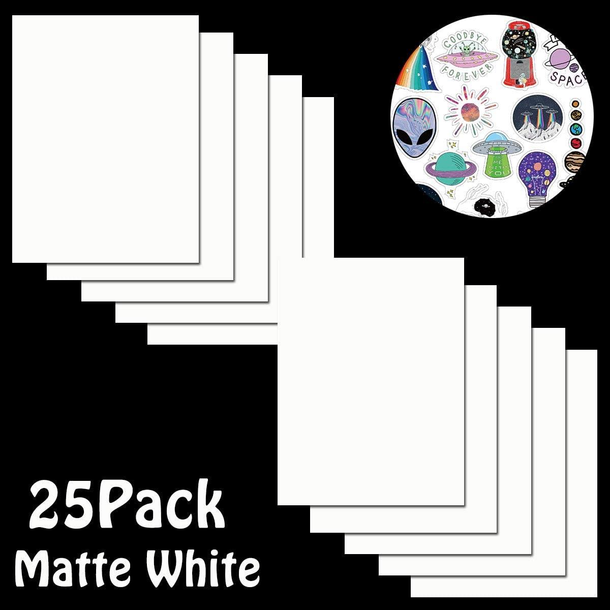 Printable Vinyl Sticker Paper for Inkjet Printer - 8.5