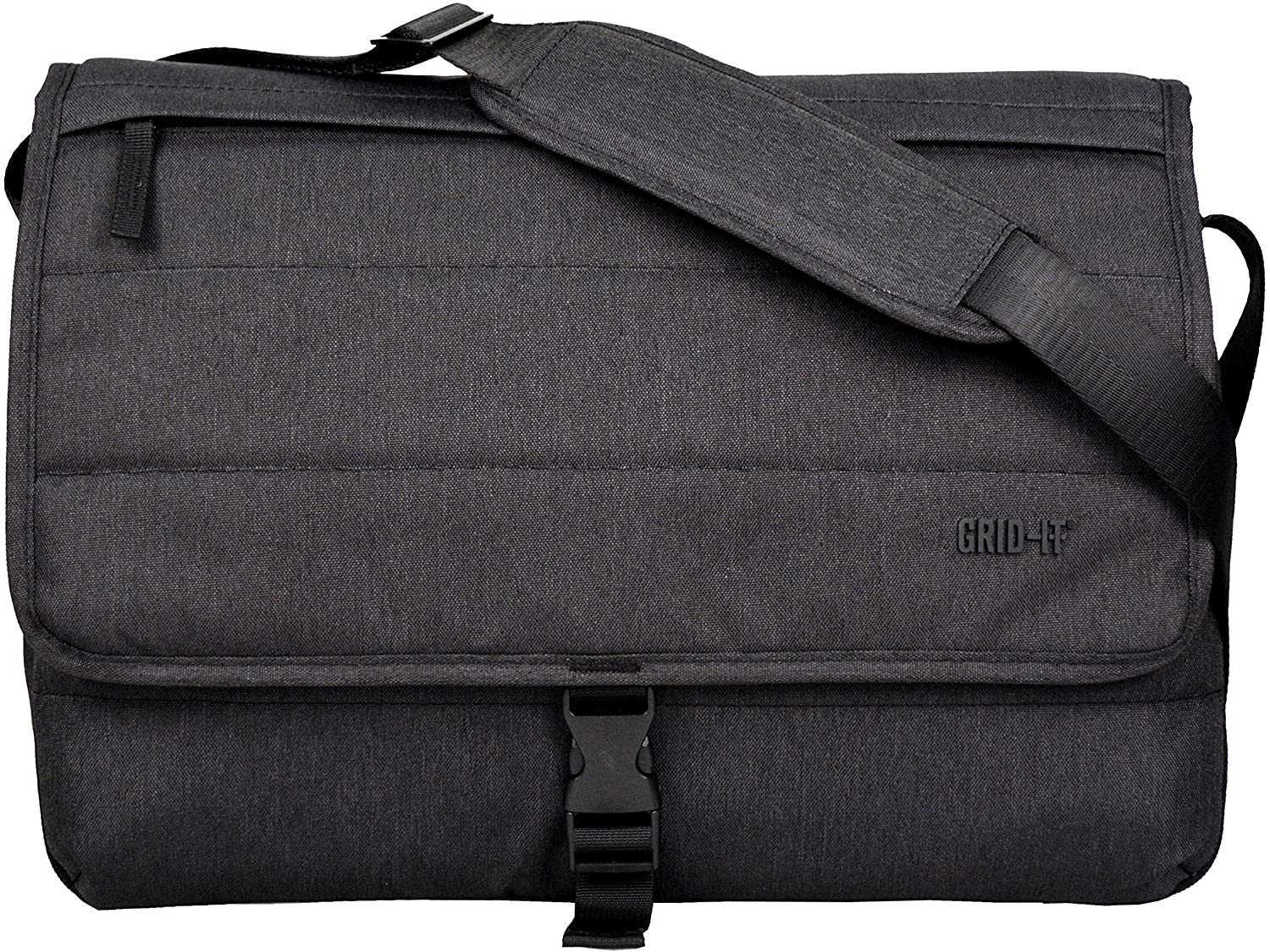 Cocoon CMB3750CH TECH 16 Messenger Bag with Built-in Grid-IT! Accessory Organizer (Charcoal)