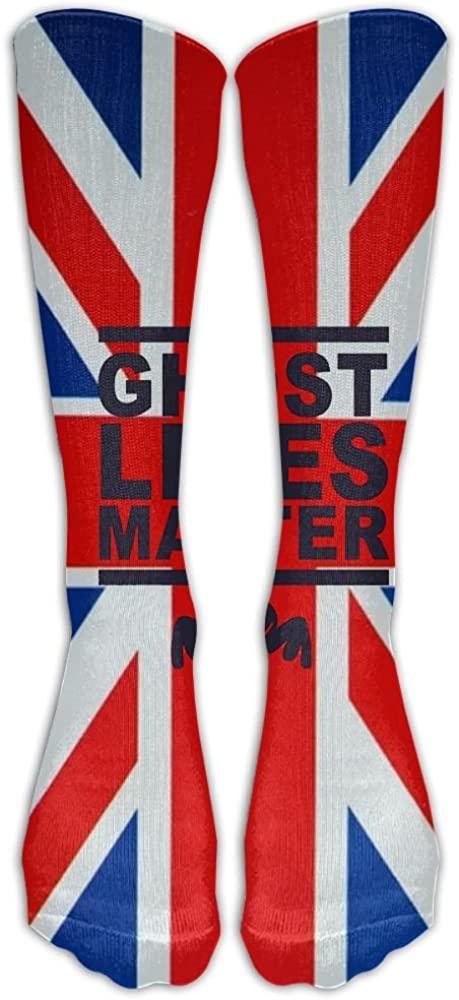 LzVong Unisex Long Socks Ghost Lives Matter Comforable Knee High Stockings