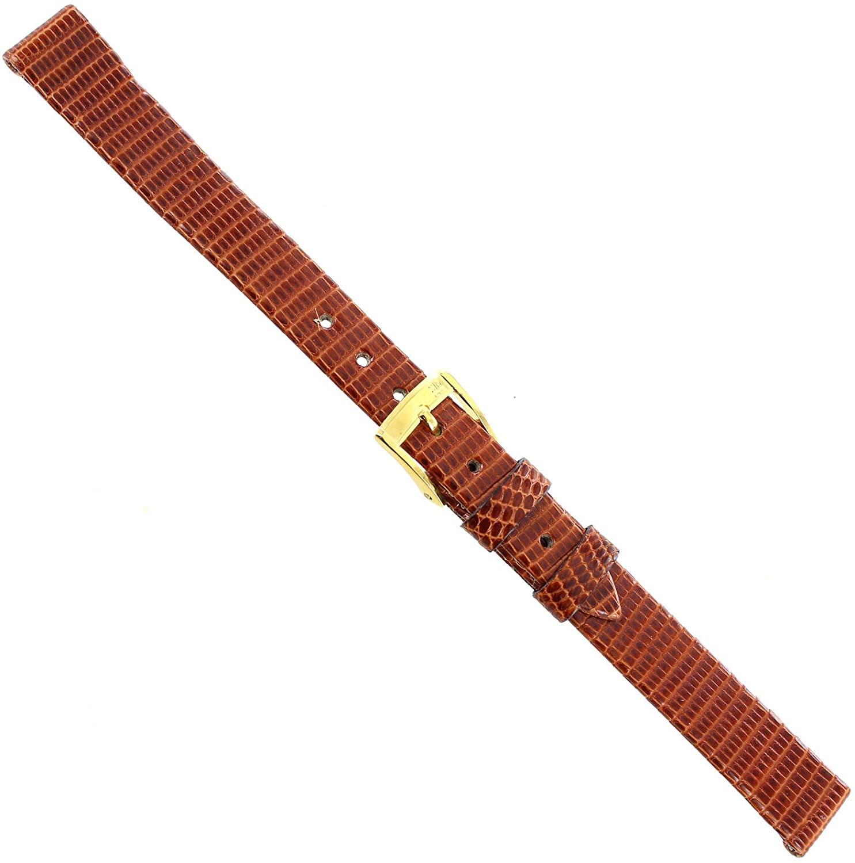 12mm Morellato Genuine Lizard Flat Unstitched Tan Brown Ladies Watch Band 117
