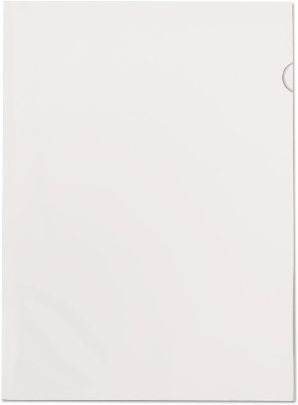 Color Jacs Transparent File Jackets, Letter, Poly, Clear, 50/Bx