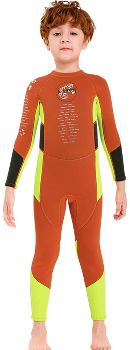 YEUIE 2.5MM Premium Neoprene for Boys Warmth Long Sleeve UV Protection Back Zip Diving Suit Swimsuit