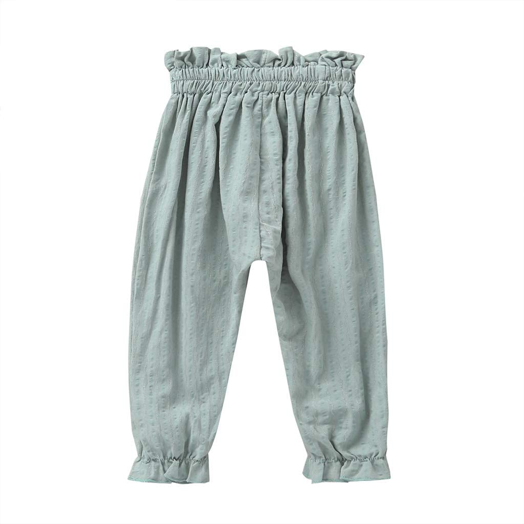 Noubeau Baby Anti-Mosquito Pants Infant Baby Girls Boy Summer Casual Harem Pants