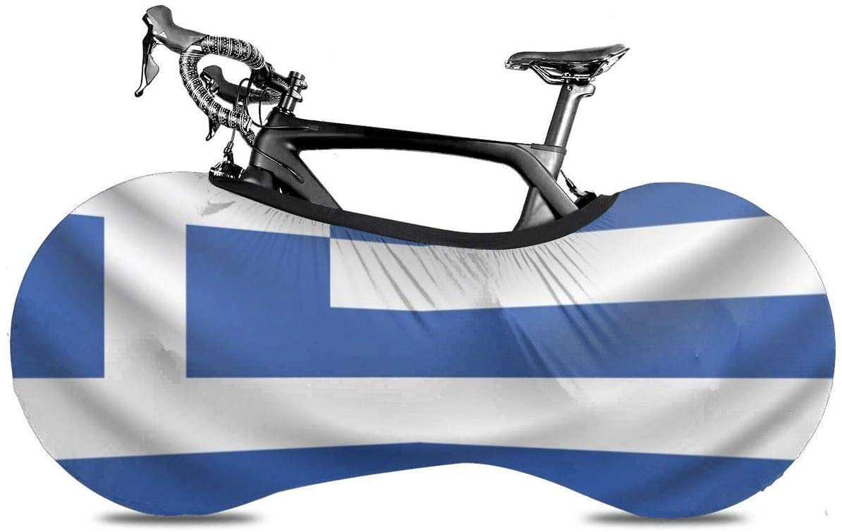 Lumos3DPrint Greece Flag Bike Cover Washable Elastic Dirt-Free Bike Storage Wheel Cover Tire Package Fit All Bicycles