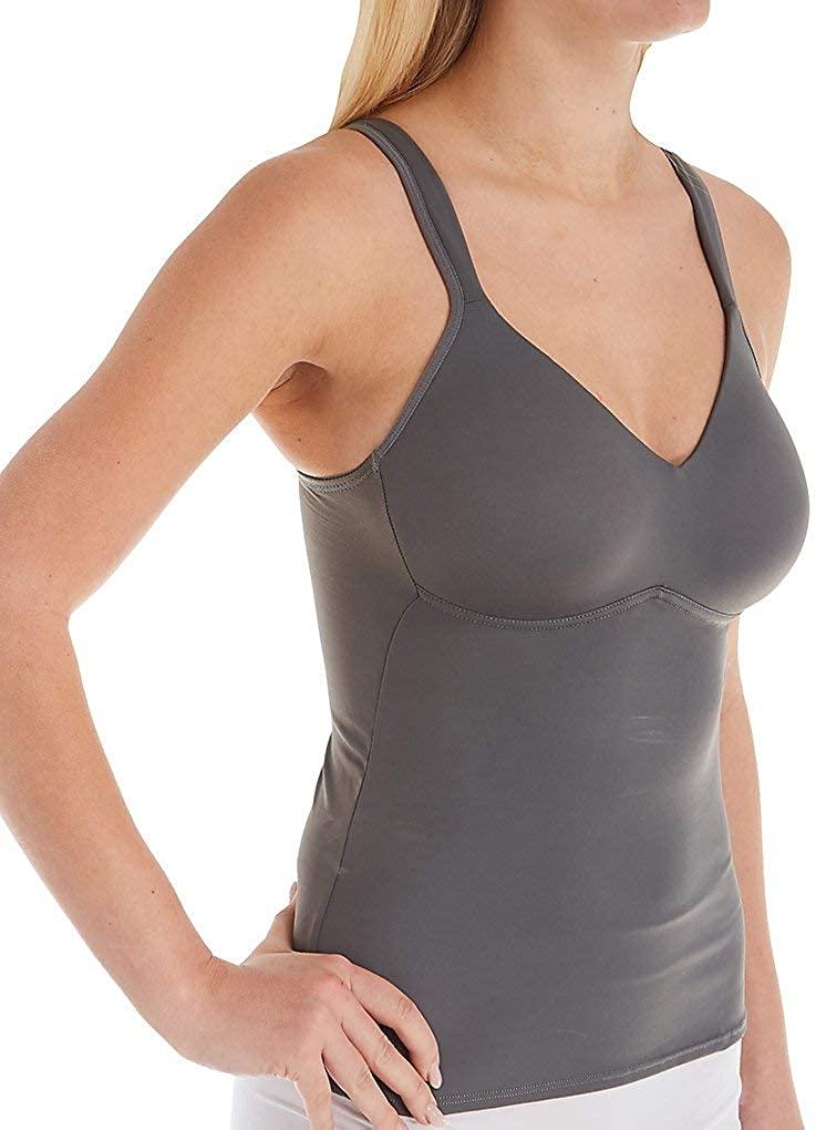 Rhonda Shear Womens Flirt Wireless Contour Cup Camisole 0012 2X Pewter