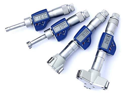 MeterTo IP54 Digital Three-Point Jaw Internal Micrometer (Blind Hole) 10-12mm Digimatic Inner Diameter Micrometer Accuracy ±0.004mm Resolution 0.001mm mm/inch