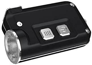 NITECORE TINI Mini Metallic Micro USB Rechargeable Keychain Light -380 Lumens (Black) w/Free Eco-Sensa USB Cable