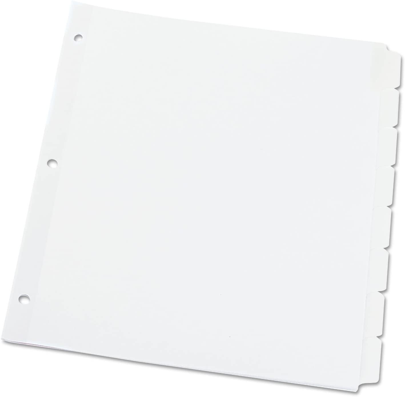 Universal 20818 Write-On/Erasable Indexes, Eight White Tabs, Letter, White