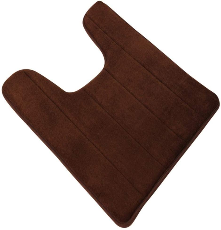 Dal-Msee U-Shaped Bathroom Floor Mats Non-Slip Toilet Rug Quick-Drying Carpet for Shower Room Bathroom