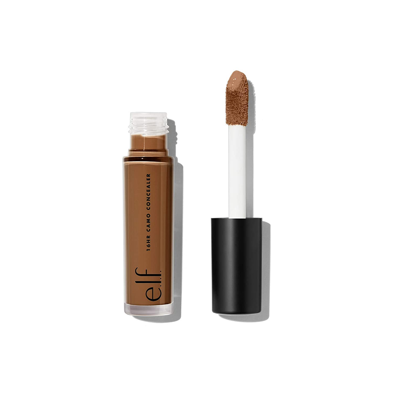 e.l.f, 16HR Camo Concealer, Full Coverage, Lightweight, Conceals, Corrects, Contours, Highlights, Rich Chocolate, Dries Matte, 6 Shades + 27 Colors, Ideal for All Skin Types, 0.203 Fl Oz