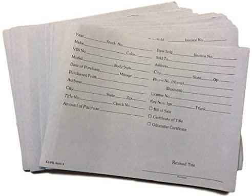 FESCO Vehicle Deal Envelopes Dealer Jackets File Folders(25/Pack) (Blue Color)