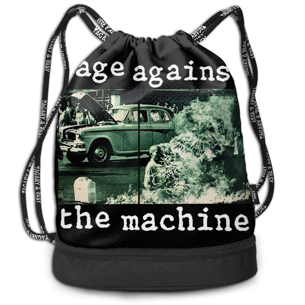 Rage Against The Ma-Chine Multifunctional Travel Sports And Leisure Drawstring Backpack