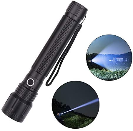 redcolourful Flashlight Adjustable XHP70 5000lm Powerful Hand Hold Flashlight for Cleaning Supplies