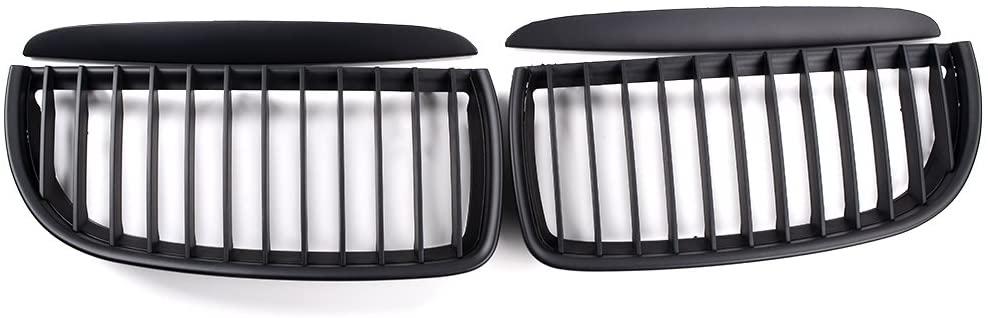 Astra Depot Euro Front Hood Kidney Grille Kit for E90 323i 325xi 330i 328i 328xi 335i 335xi Pre-Facelift (Matte Black)