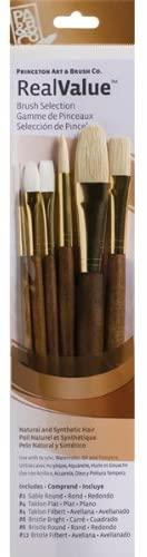 Princeton Artist Brush, Set 9148 6-Pc Brstl/Sable/Tak