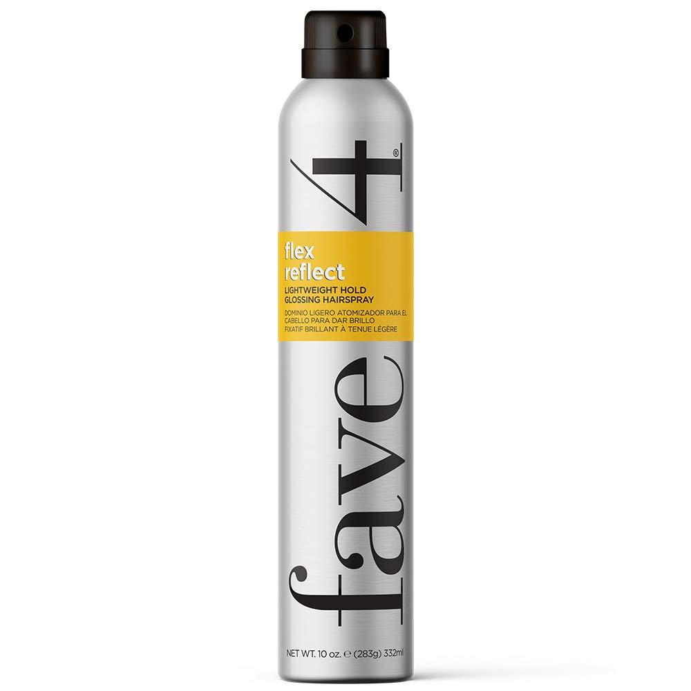 fave4 hair Flex Reflect Hairspray, Lightweight Glossing Spray with Light Hold & High Shine, 10 0z