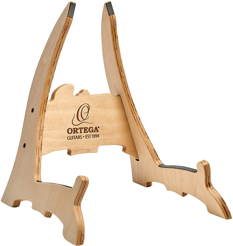 Ortega Guitars OWGS-2 Birch Wood Guitar Stand, Natural Bright