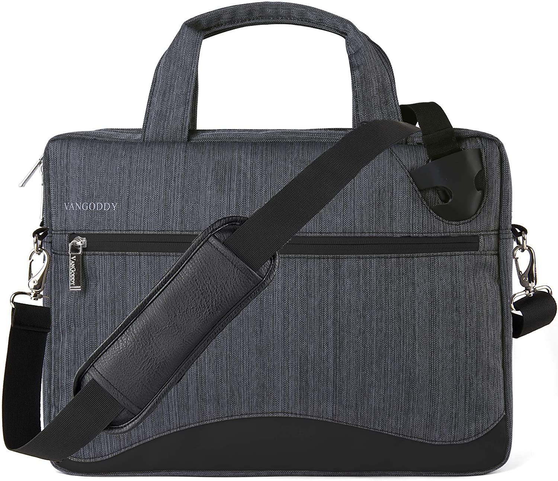 VanGoddy 17 17.3 inch Slim Gray Anti-Theft Laptop Messenger Bag Fit for MSI Raider, Mobile Workstation, X Leopard, Apache Pro, Stealth Pro, Prestige, Dominator, Titan 17.3