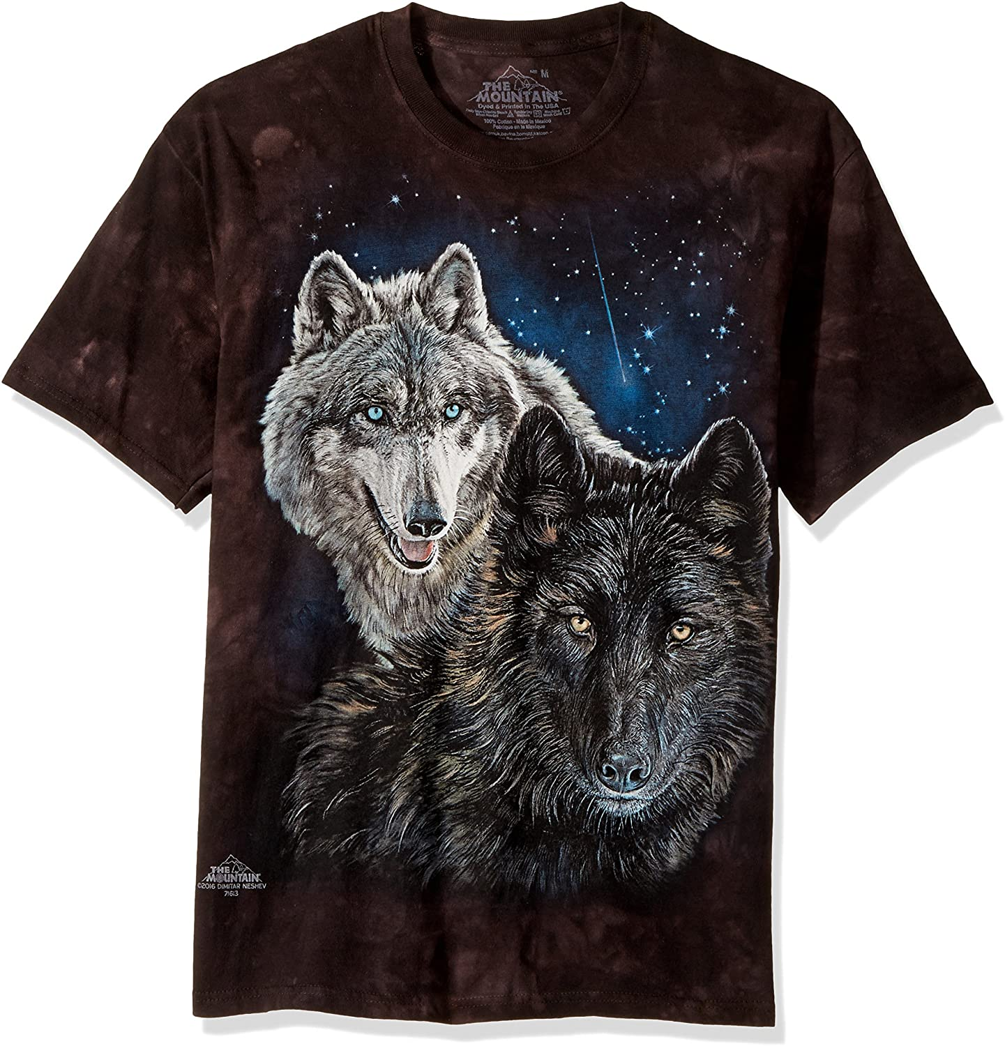 The Mountain Mens Star Wolves T-Shirt