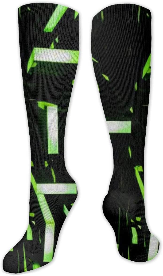 Compression Sock for Women & Men,The Color Light CasualLongKneeHighTubeSocksforRunnning,SoccerAthleticSports,Travel-50cm