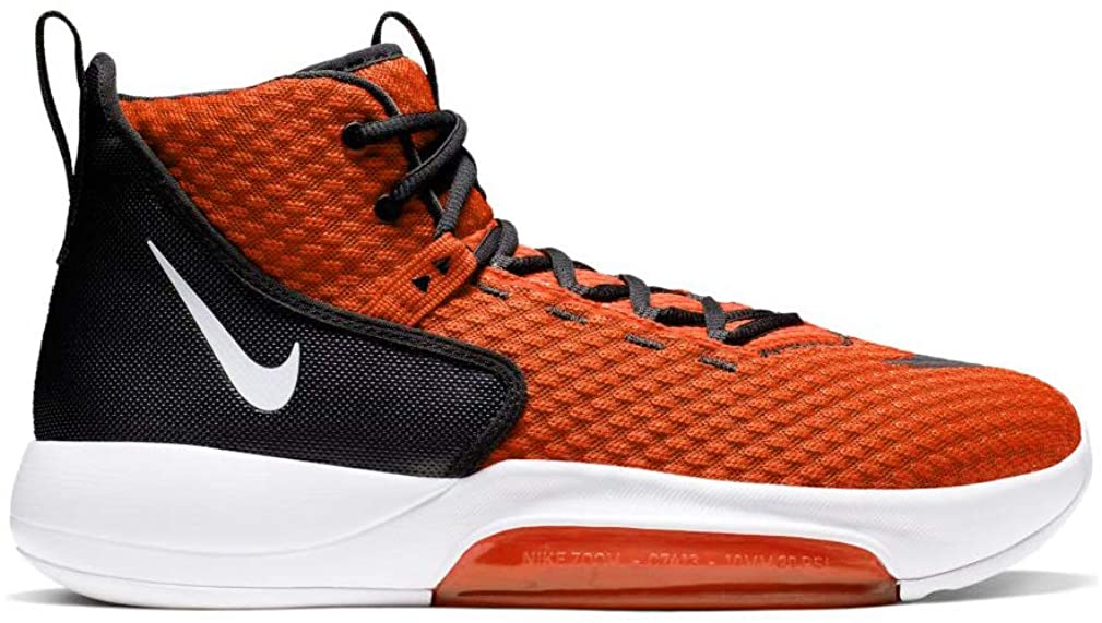Nike Zoom Rize Tb Mens Bq5468-800 Size 9, Team Orange/White-black