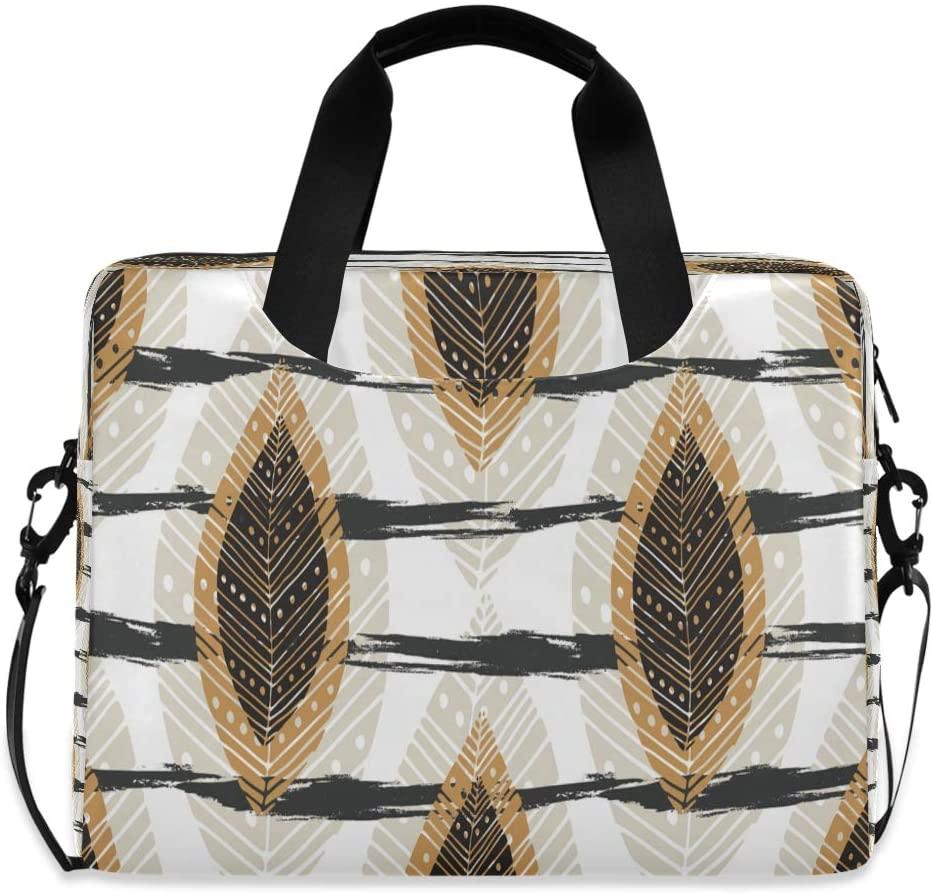 Laptop Bag Briefcase Shoulder Bag - Autumn Leaves Stripes 15.6 Inch Tote Bag Laptop Messenger Shoulder Bag Carrying Shoulder Handbag, Great to Office, University
