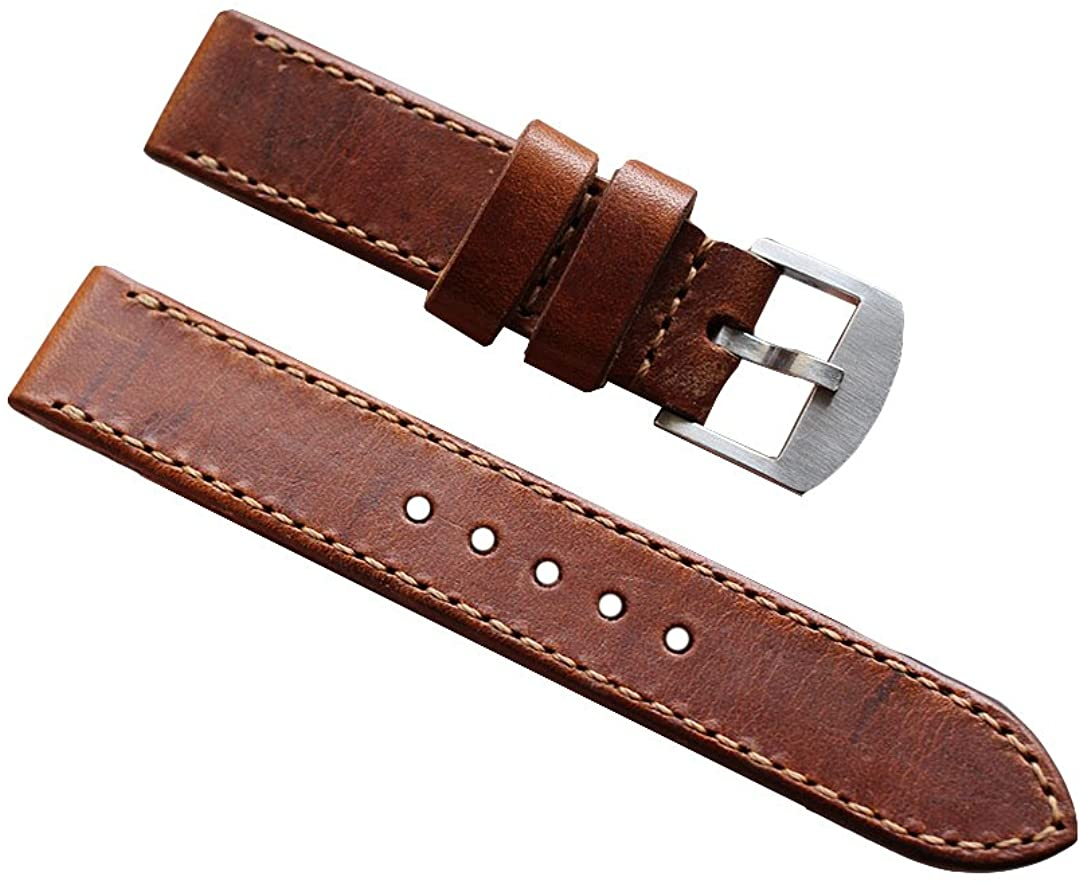 OVERWRIST Watchband Vintage Swiss Ammo Handmade Leather Strap