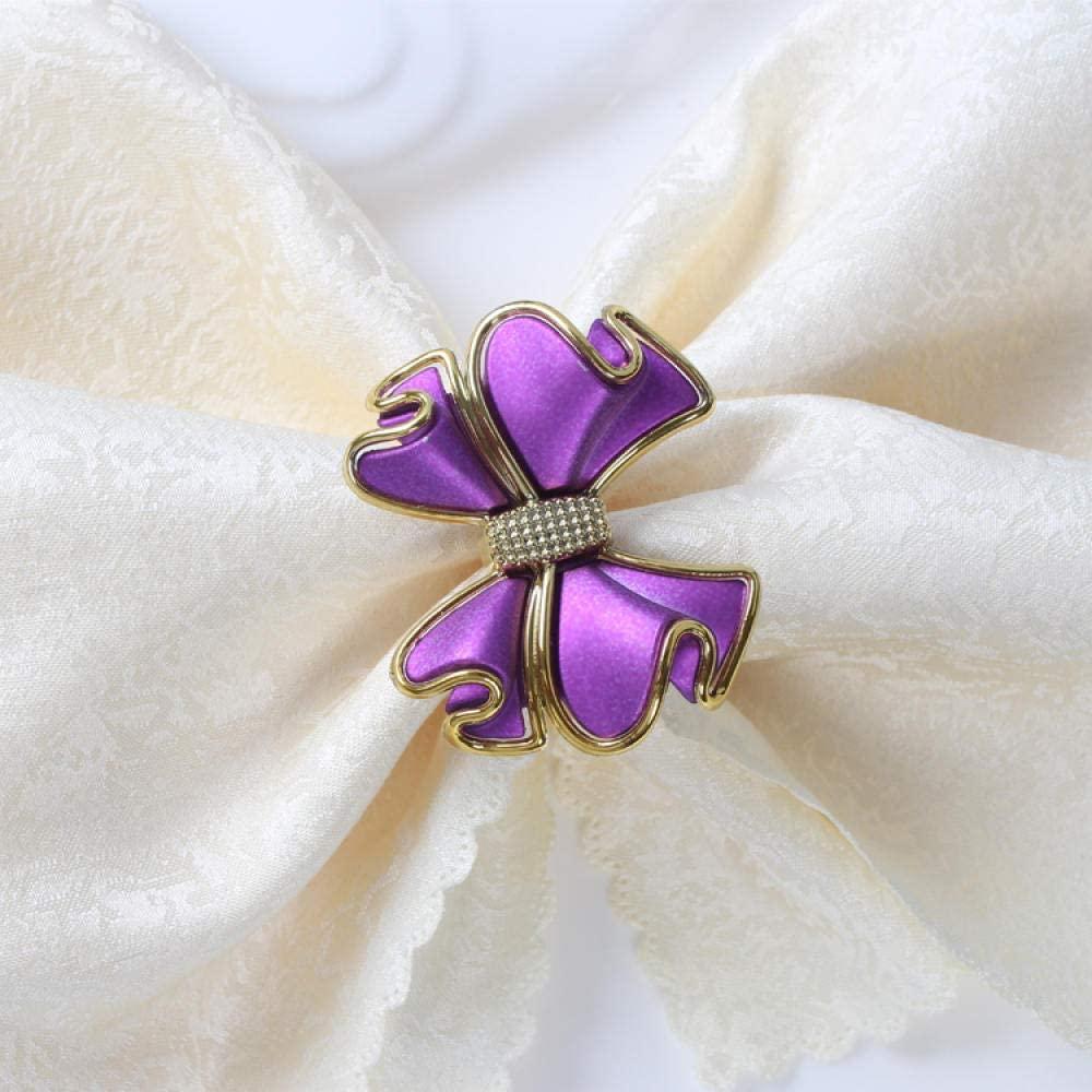 TougMoo 8Pcs Wedding Hotel Banquet Valentine Gift Napkin Button Napkin Ring Napkin Ring-A