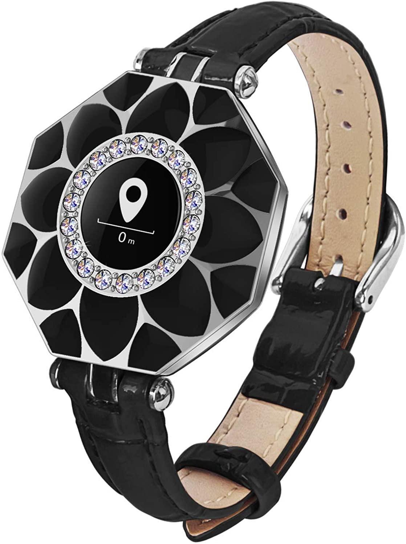 Ciyoo N2 Waterproof fitness Smartwatch for women, ,Fitness Tracker Watch with Heart Rate Monitor Step Sleep Tracker Jewelry Watch(Black)