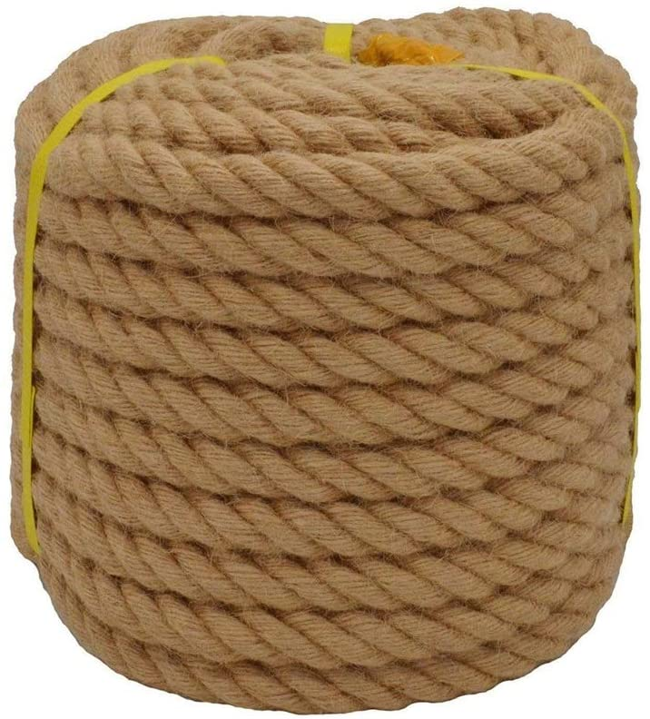 MINGDIAN FH Hemp Rope, Hand-Woven Safety Rope 35mm/40mm Thick Hemp Rope, for Floristry, Gifts, Customized DIY Arts&Crafts (Size : 35MM/7M)