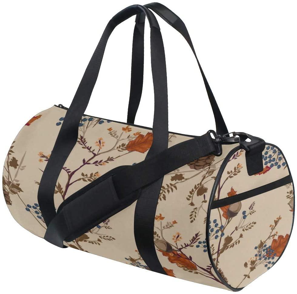 Gym Organizer Bag Yellow Autumn Forest Maple Landscape Yoga Gym Totes Handbag Travel Duffel Bags Shoulder Crossbody Fitness Sport Girl Men Women Girls Handbags