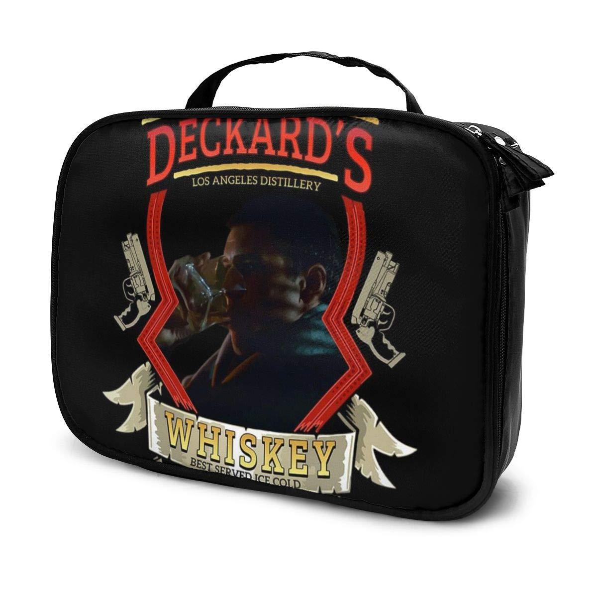 Makeup Bag Cosmetic Pouch Rick Deckards Single Malt Whiskey Blade Runner Multi-Functional Bag Travel Kit