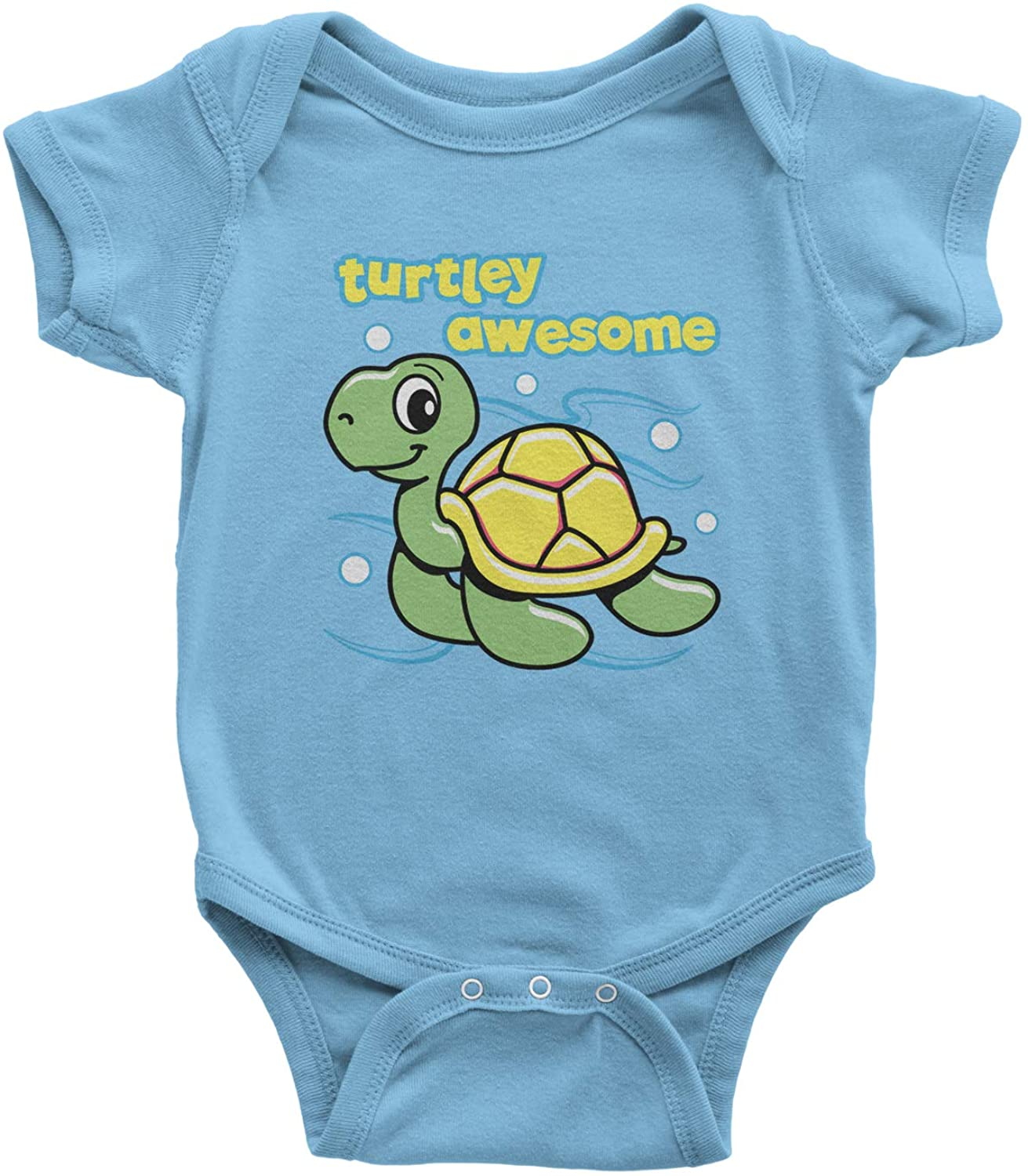 Expression Tees Turtley Awesome Turtle Infant One-Piece Romper Bodysuit