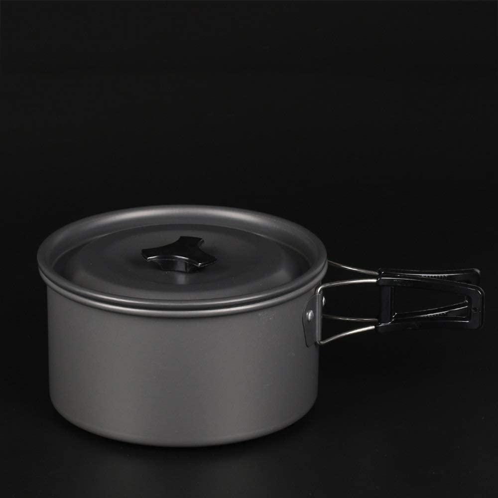 Outdoor Pot Portable Cookware Set Aluminum Kettle Set Pot Hanging Pot (Color : C)