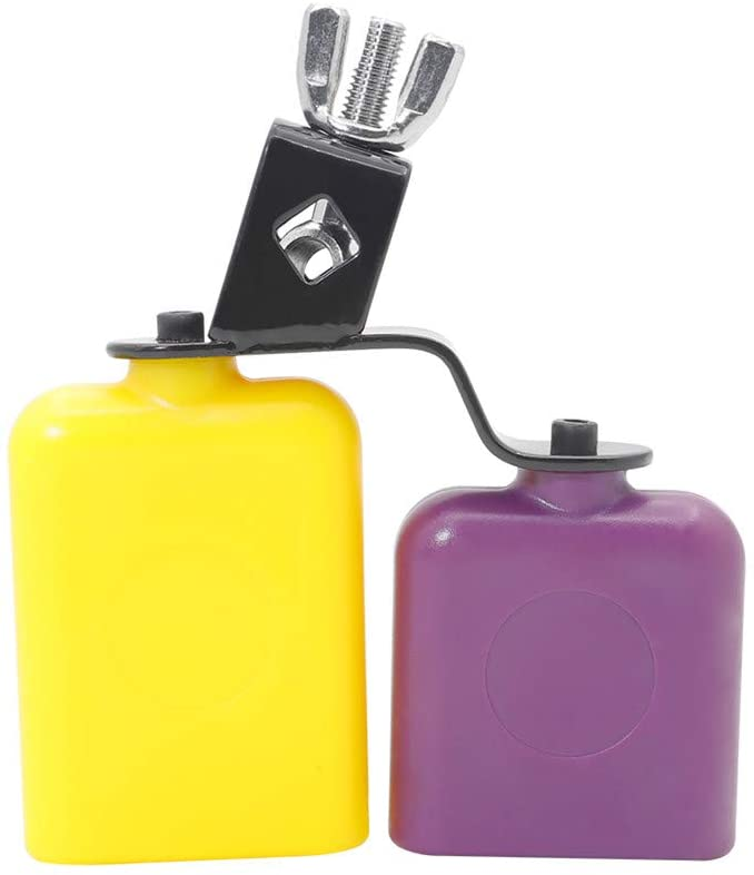 XuBa CB30 Cowbell Cow Loud Call Bells for Cheers Sports Games Weddings Percussion Instruments