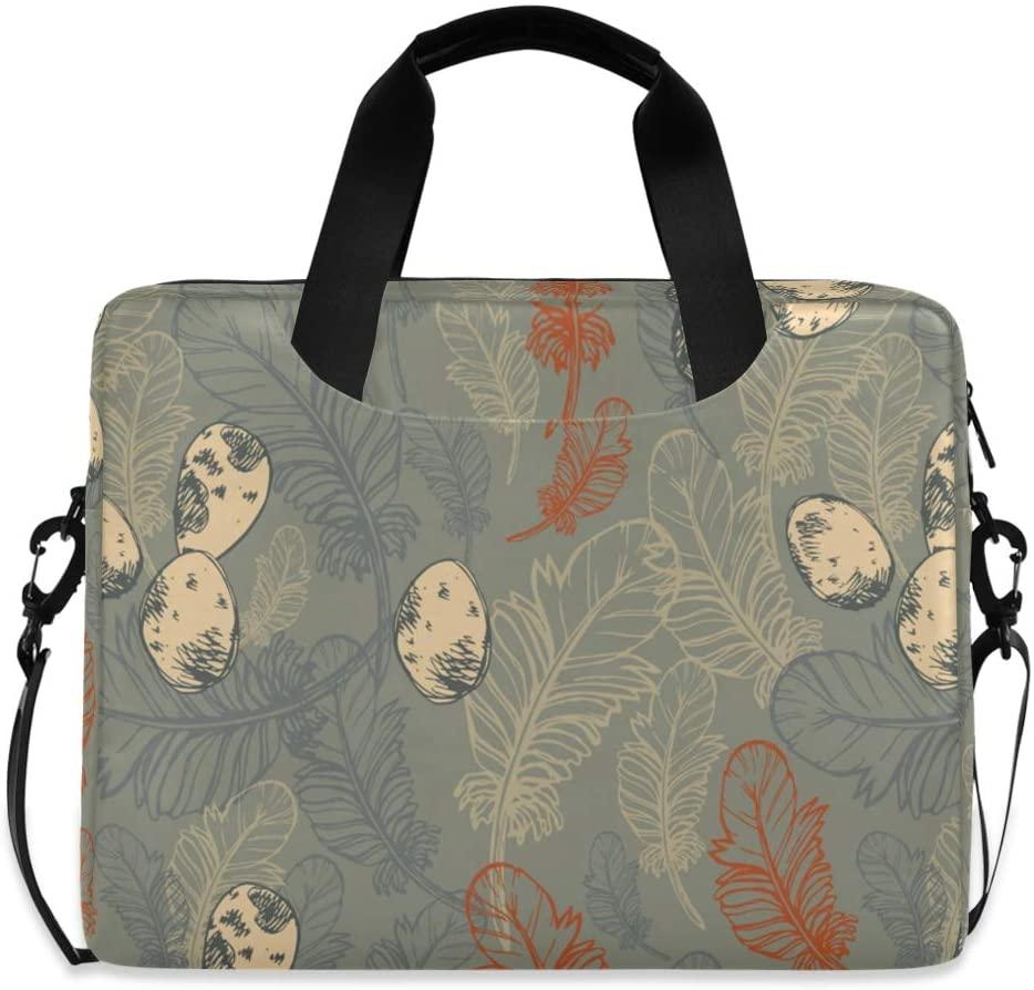 Laptop Bag, Seamless Pattern Feathers Eggs Laptop Briefcase Bag, 16 Inch Slim Laptop Backpack Laptop Case
